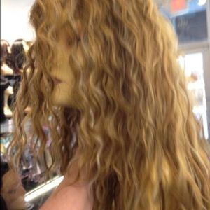 Accessories - Wig Long Curly Wig Blonde Mix New 2018 On Sale Wig